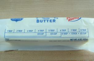 how much is 2 sticks of butter