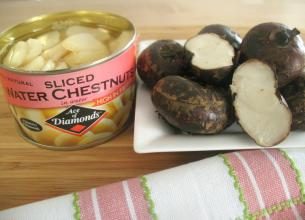 How To Slice And L Water Chestnuts