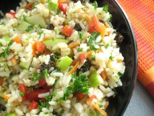 Rice Salad-Curried with Fruit > Start Cooking