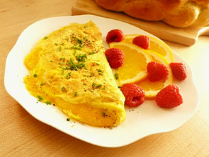 Omelet with Cheese > Start Cooking