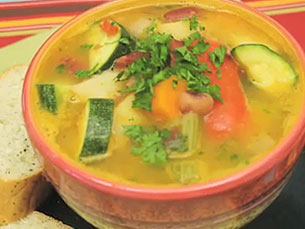 Mixed bean and vegetable soup