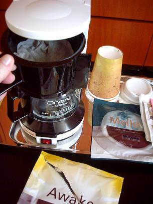 Coffee Makers in Hotel Rooms > Start Cooking